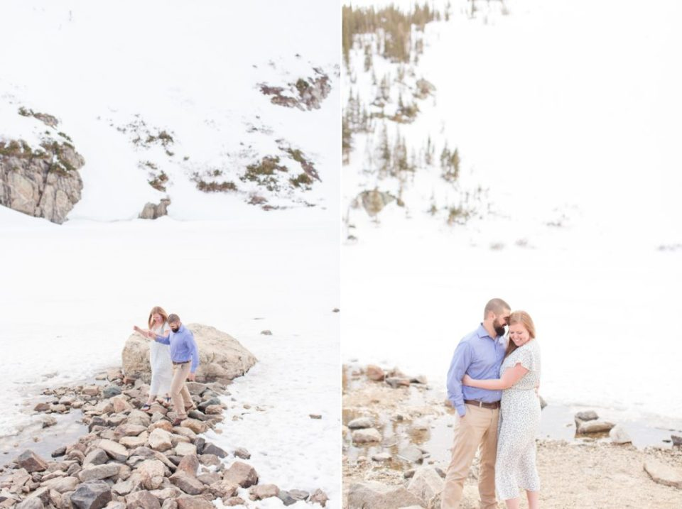 St. Mary's glacier winter engagement session in Colorado. Colorados top engagement session locations.