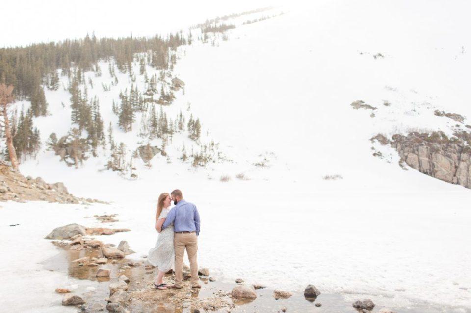 Frozen over lake in Colorado. Frozen over St. Mary's Glacier in Idaho Springs Colorado.