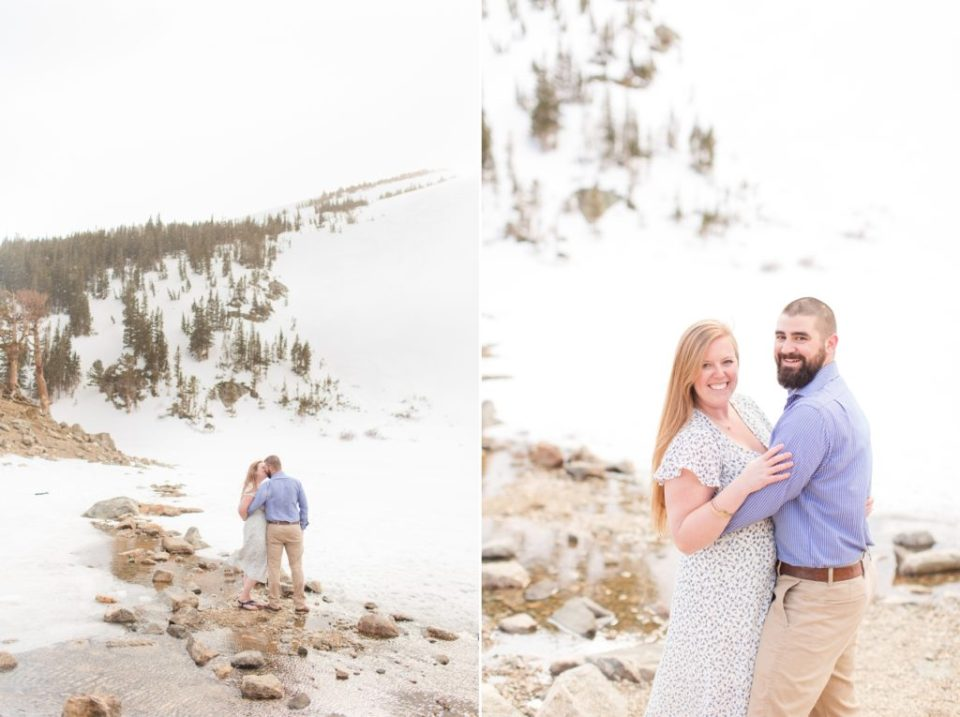 St. Mary's Glacier Colorado mountain engagement session.