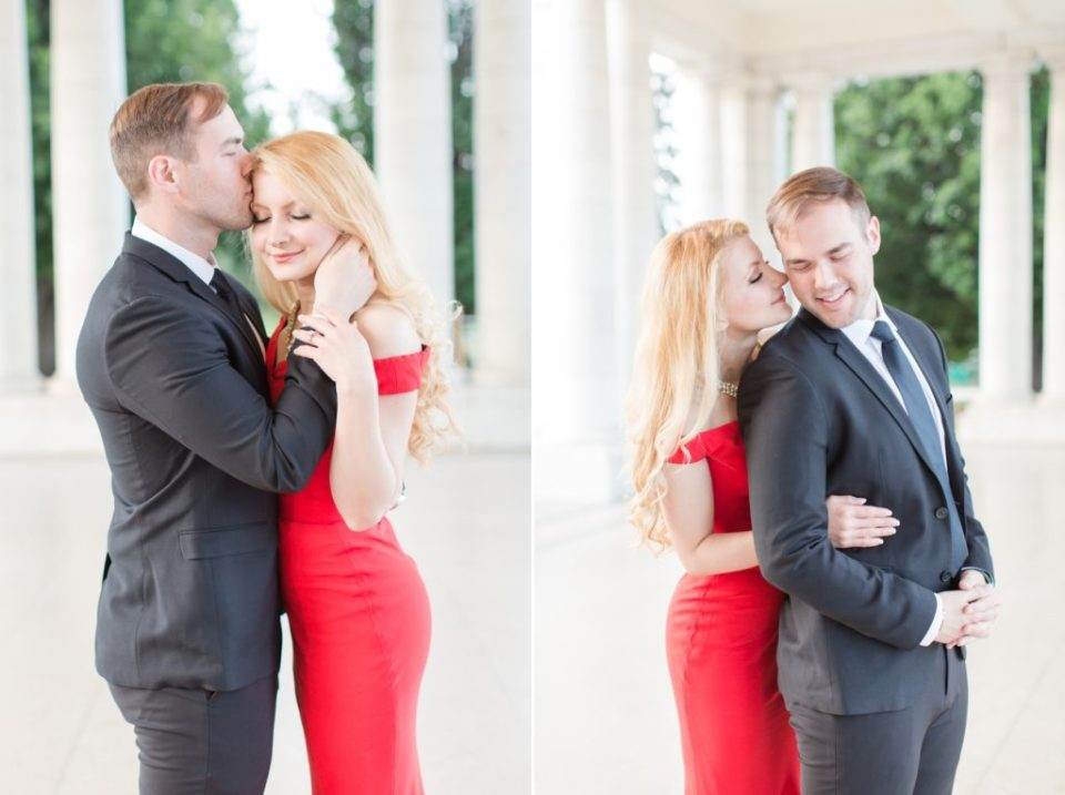 Engagement session locations in downtown Denver. Chessman Park Denver engagement session.