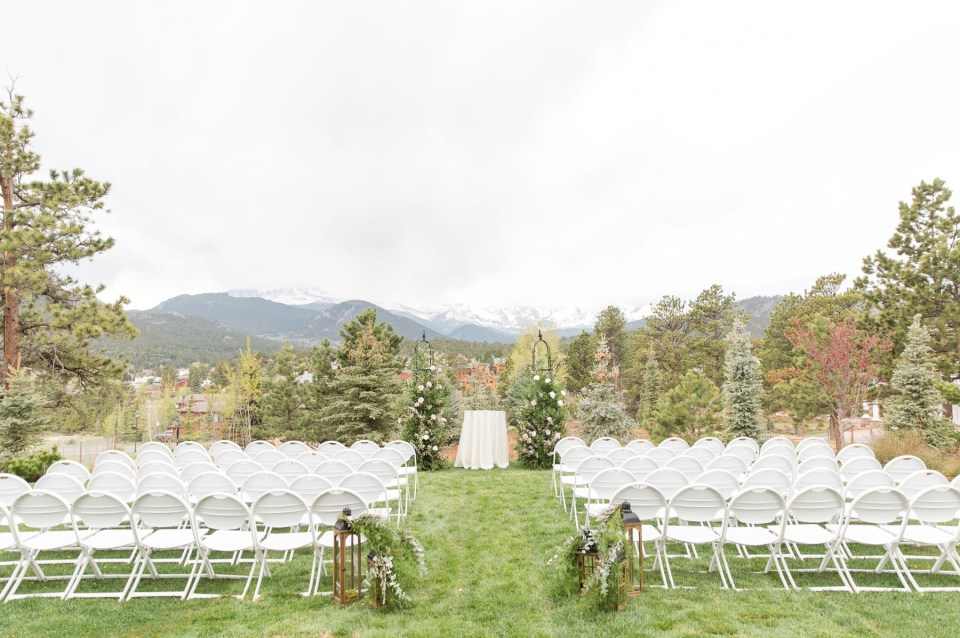 The longs peak ceremony site at the Stanley Hotel in Estes Park Colorado