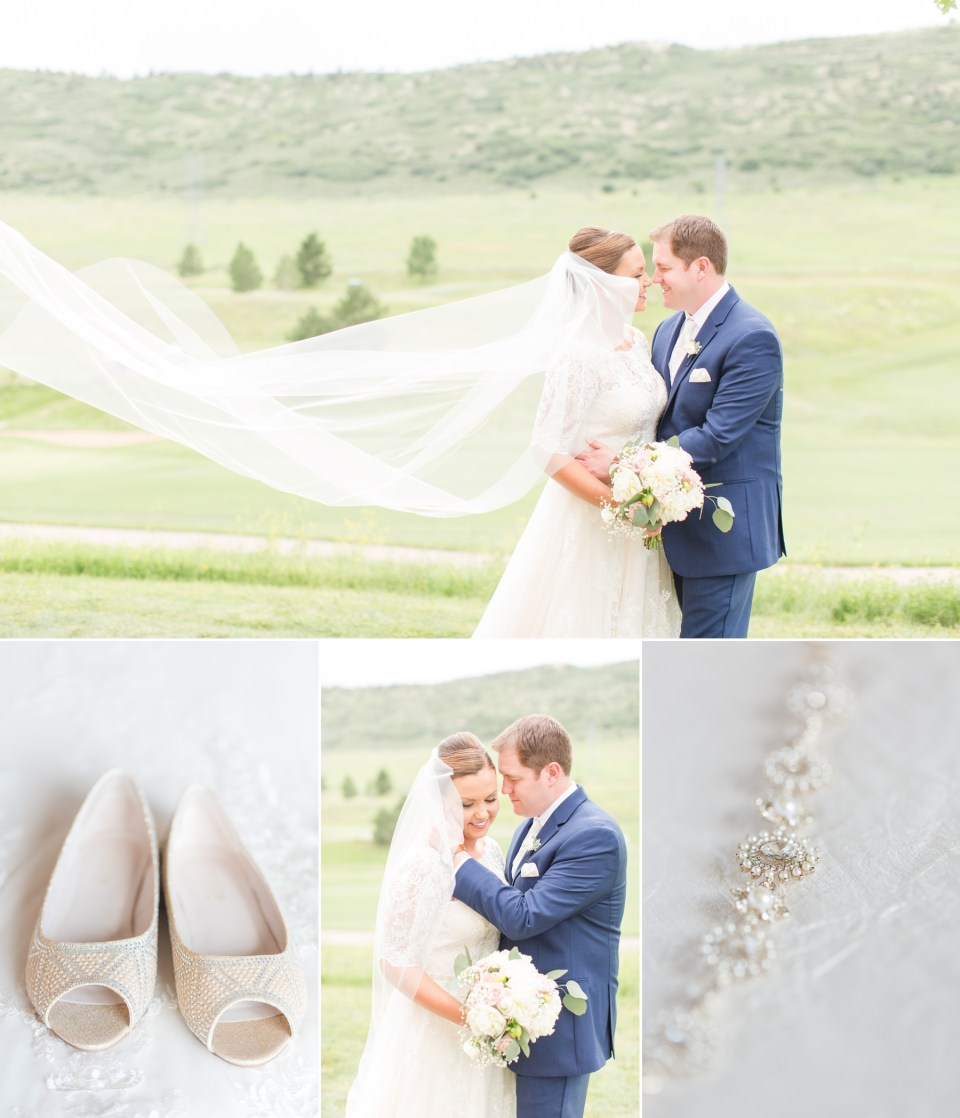 Romantic and classic wedding at Ken Caryl Wedgewood in Littleton Colorado.