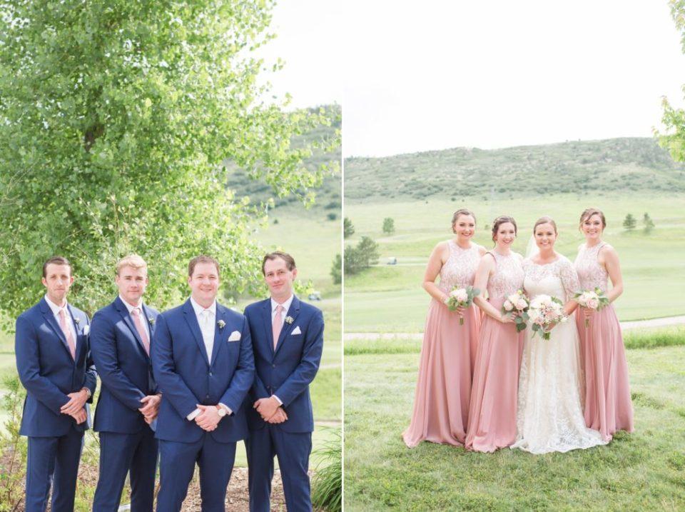 Blush and navy wedding inspiration for a spring colorado wedding.