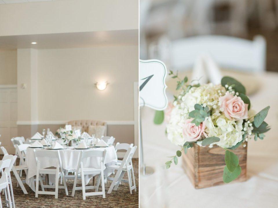 Wedgewood Ken Caryl wedding venue in Littleton Colorado. Reception set up ideas for a romantic spring wedding.