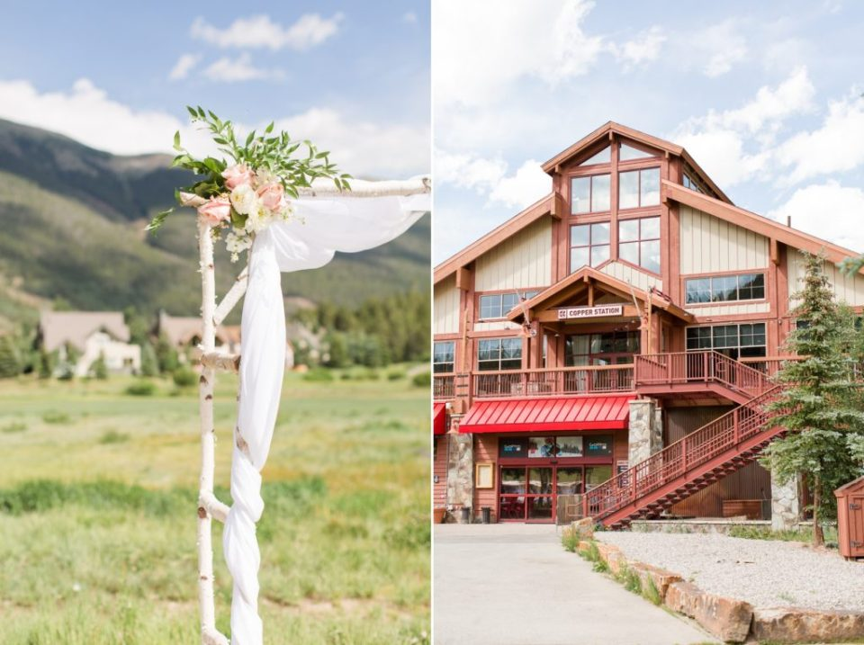 Summer wedding at Copper Station in Copper Mountain Colorado.