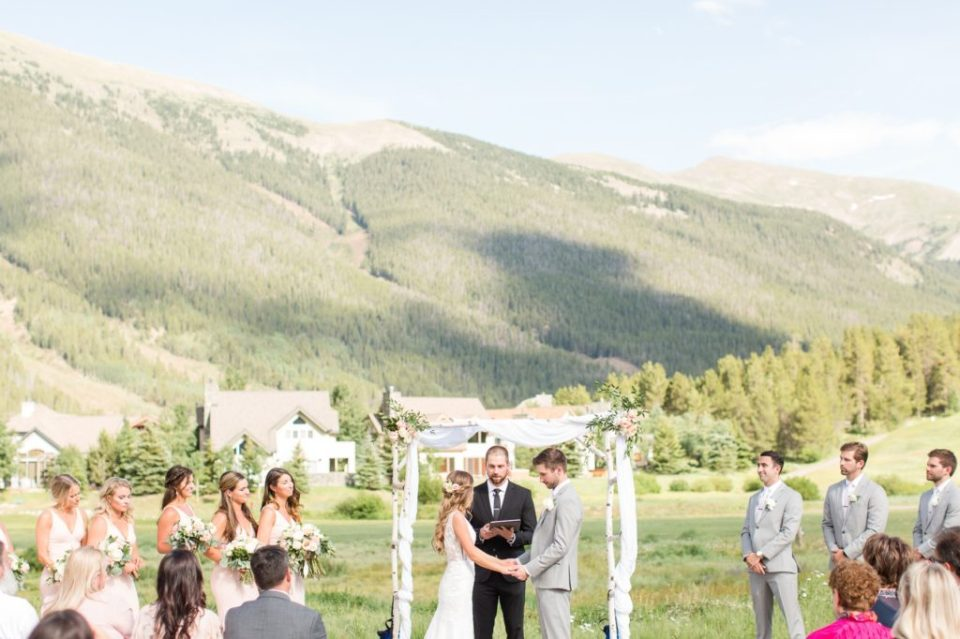 Copper mountain wedding ceremony at Copper Station.