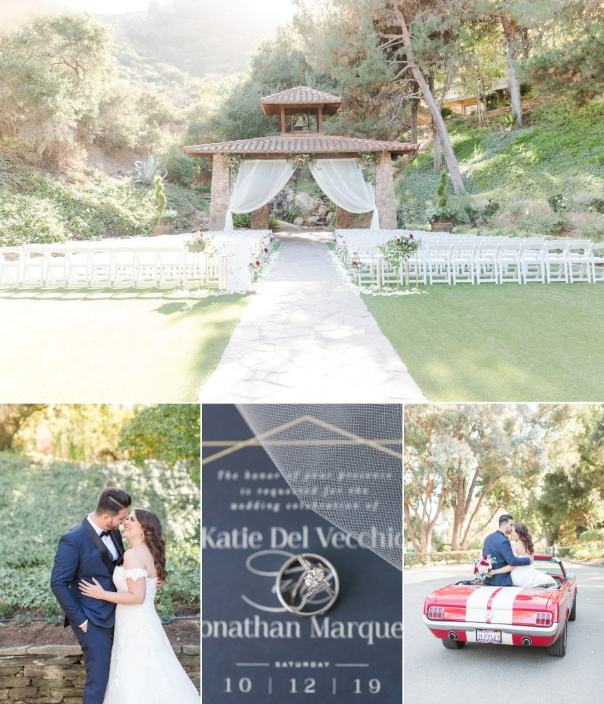 Fall wedding at Pala Mesa Resort in Fallbrook California.