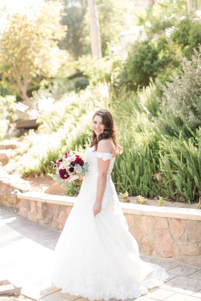 Full length bridal shot by Colorado wedding photographer Theresa Bridget Photography
