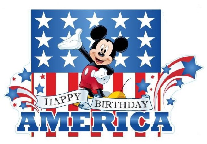 mickey happy 4th of july america