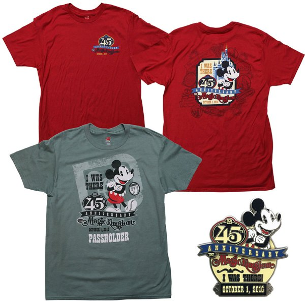 45th Anniversary shirts and pin