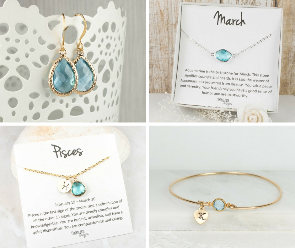 Theresa Rose Designs March Birthstone Jewelry