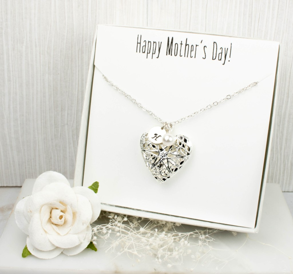 Personalized Silver Locket Necklace