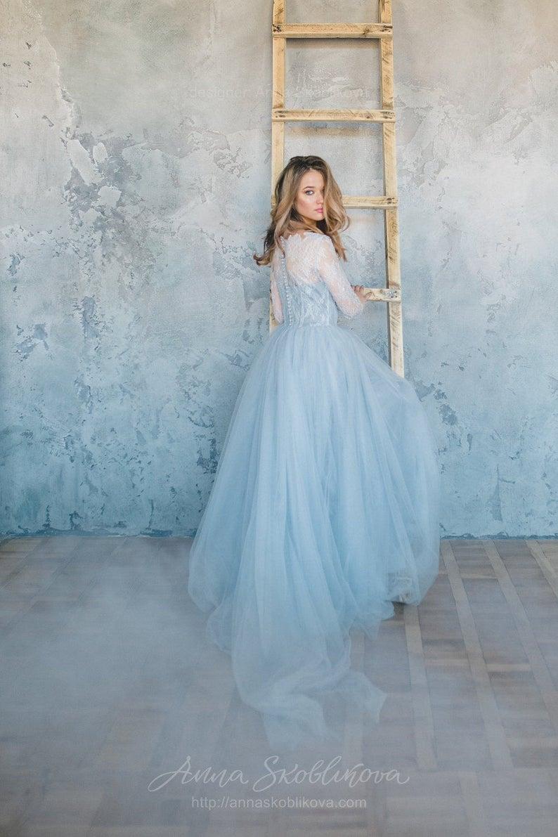 Light Blue Bridal Dress