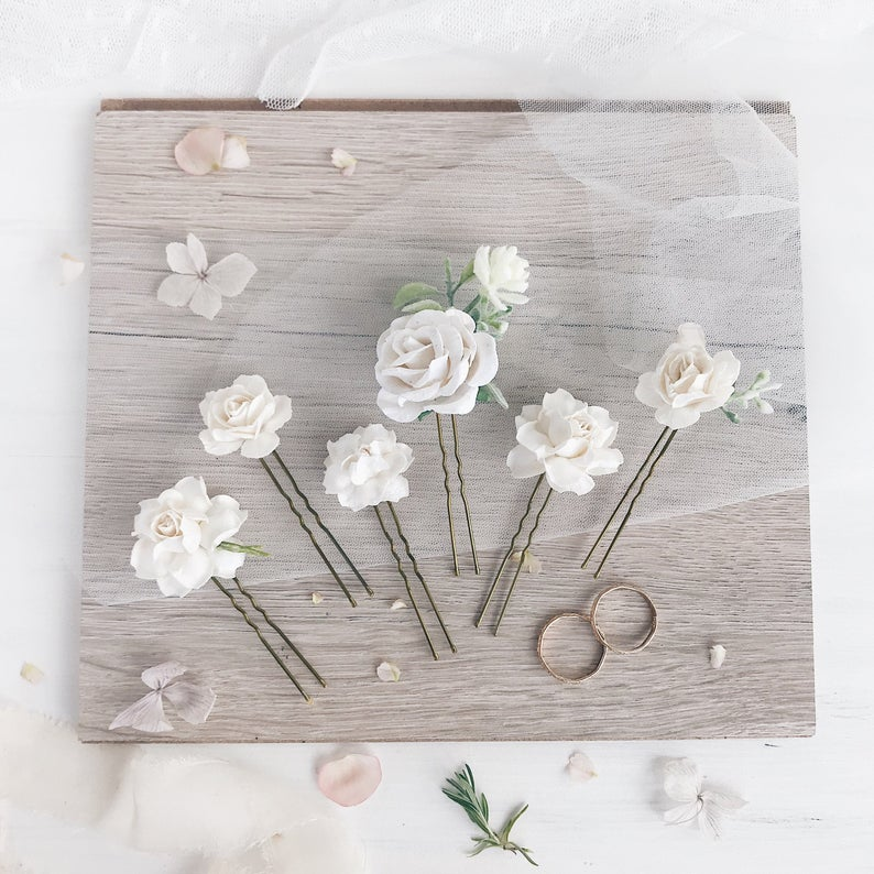 Serenity Wedding - White Hair Pins