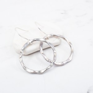Silver-circle-earrings
