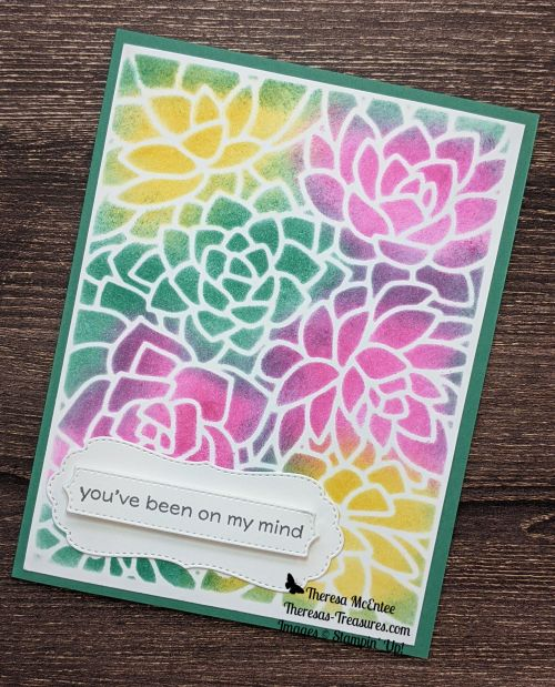 You/'ve Been On My Mind Handmade Card with embossed flowers