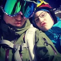 Schnofi-Selfie mit dem Cousinchen. #mädlsskitag