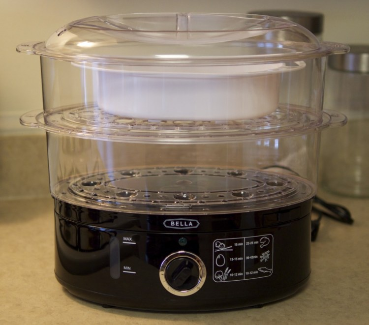 Healthy Steamed Dinner Idea - with Bella Food Steamer - Theresa's Reviews - www.theresasreviews.com