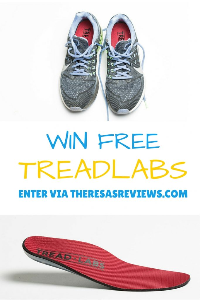 Win Free @TreadLabs! Stride Insole Review & Giveaway on www.theresasreviews.com #free #giveaway #win #treadlabs #shoes #insoles #parents #moms #dads #active #running #bloggers #mombloggers