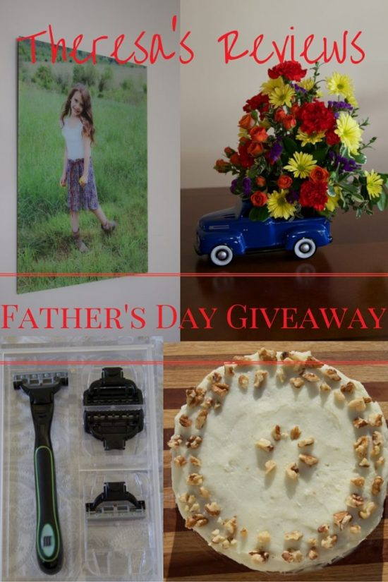 Father's Day Giveaway Worth ARV $259 on Theresa's Reviews! @RedVelvetNYC @FractureMe @MasterShave @Teleflora