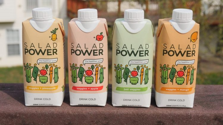 Salad Power drinks are made from 7 delicious vegetables and are 100% gluten free, vegan, and paleo!