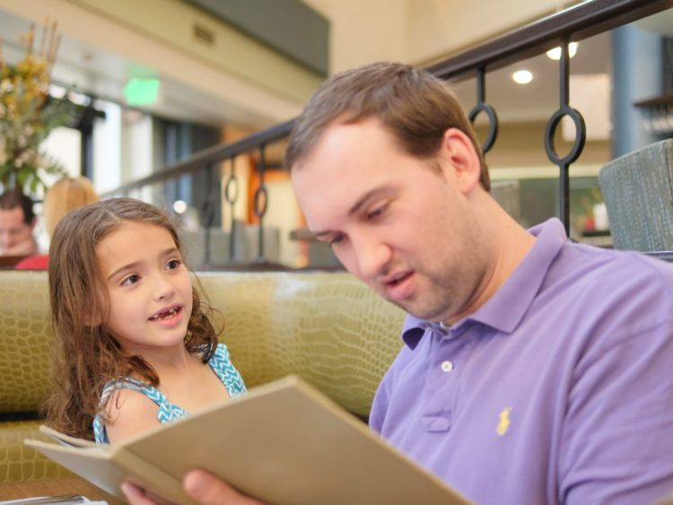 Choosing which dinner item to order was the most difficult part of our visit. We decided to order some classic, family friendly selections.