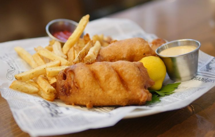 Fish and Chips at Alexandra's American Fusion Restaurant