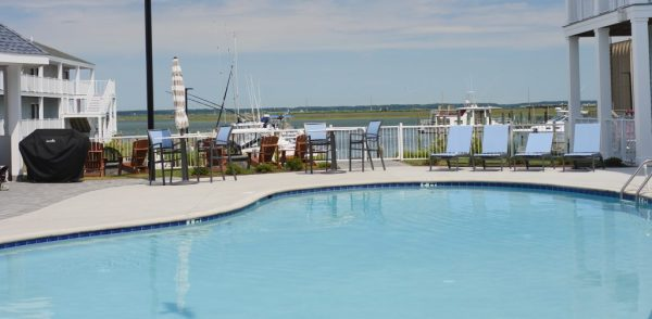 Anchor Inn pool at Chincoteague Island