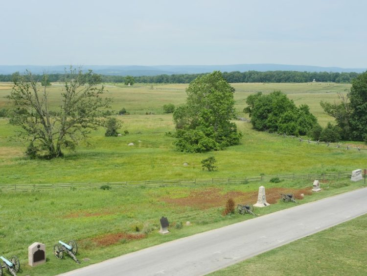 Climb to the top of the Pennsylvania State Memorial for an incredible view of the Gettysburg battlefield.