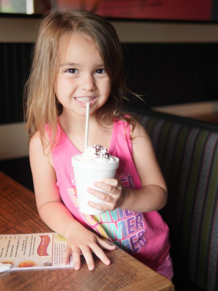 My children's favorite part about eating at Dunlap's Restaurant and Bakery was getting a milkshake with their kids' meal.