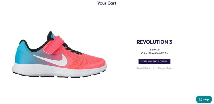 On the EasyKicks website, you have your child's size and information pre-loaded to make ordering new sneakers simple.