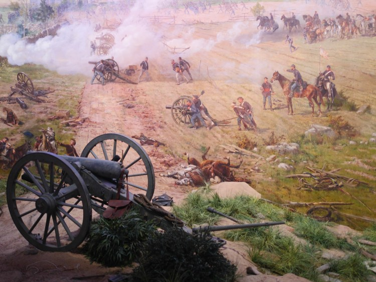 """A New Birth Of Freedom"" film and the Cyclorama at the Gettysburg National Military Park Museum & Visitor's Center for Ford Family Day - Theresa's Reviews"