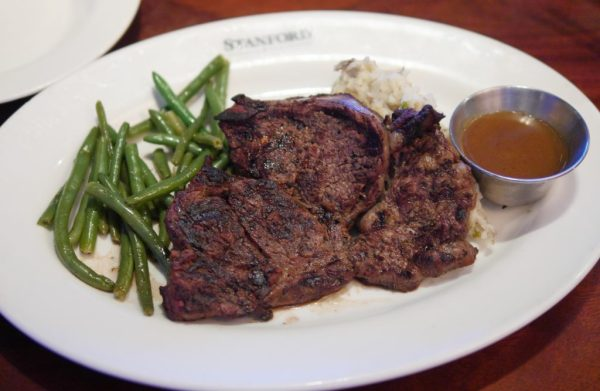 Montreal Seasoned Ribeye Special with a side of Redskin Mashed Potatoes and Green Beans - Stanford Grill in Columbia, Maryland - Theresa's Reviews