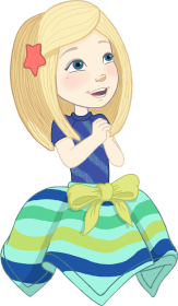 Camille character in WellieWishers Garden Fun App