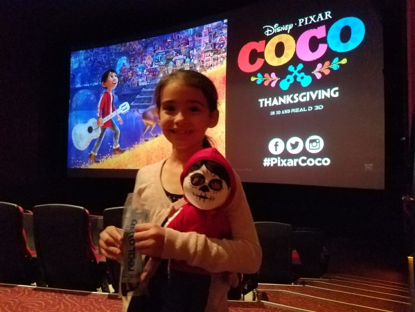 Sammie from The Sammie and Georgie Show watching Disney Pixar's Coco in 3D