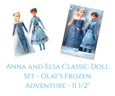 Theresa's Reviews - Anna and Elsa Classic Doll Set - Olaf's Frozen Adventure - 11 12''
