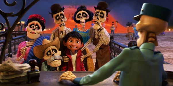 "FAMILY REUNION -- In Disney•Pixar's ""Coco,"" Miguel (voice of newcomer Anthony Gonzalez) finds himself magically transported to the stunning and colorful Land of the Dead where he meets his late family members, who are determined to help him find his way home. Directed by Lee Unkrich (""Toy Story 3""), co-directed by Adrian Molina (story artist ""Monsters University"") and produced by Darla K. Anderson (""Toy Story 3""), Disney•Pixar's ""Coco"" opens in U.S. theaters on Nov. 22, 2017. ©2017 Disney•Pixar. All Rights Reserved."
