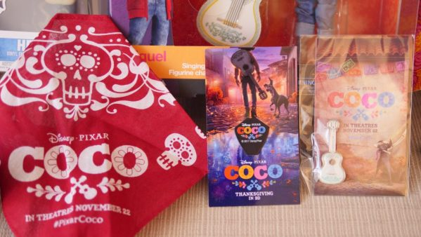 Limited edition collectable guitar pick, a guitar pin, and a bandana - Theresa's Reviews - 10 Must-Have Disney Pixar Coco Toys #PixarCocoEvent
