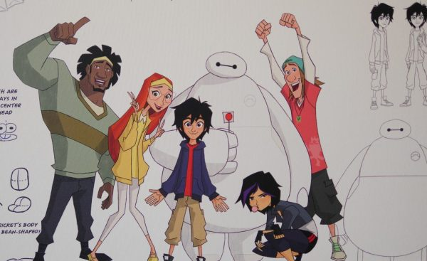 Big Hero 6 is part of the artwork on the walls at the Disney TV animation building! - Theresa's Reviews