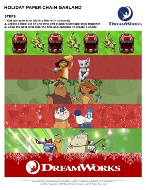 Theresa's Reviews - DreamWorks Holiday Paper Chain Garland