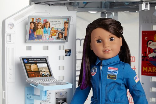 Luciana was developed through a partnership that American Girl has with NASA!