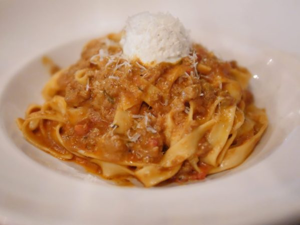 Theresa's Reviews covers Howard County Restaurant Weeks with Fettuccine- Bolognese sauce, ricotta cheese #HocoRestaurantWeeks