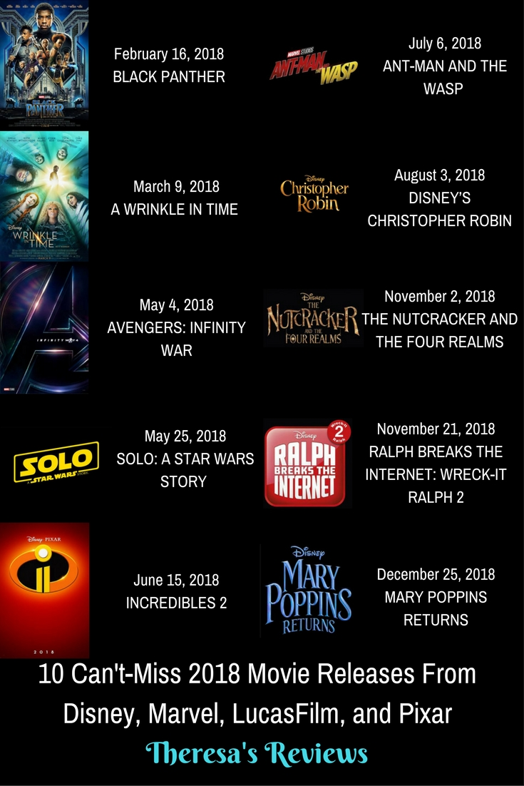 10 Can't-Miss 2018 Movie Releases – Theresa's Reviews
