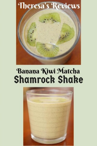 Banana Kiwi Matcha Shamrock Shake Theresa's Reviews