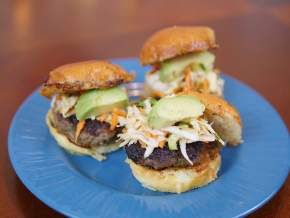 Theresa's Reviews - Sun Basket's Saigon beef sliders with carrot-cabbage slaw is family friendly.