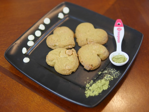 Theresa's Reviews - St. Patrick's Day Matcha Cookies - Four heart shaped green matcha cookies look like a clover when you put them together!