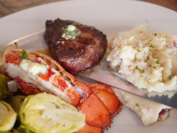 For a special occasion, order Surf & Turf with a Filet Mignon and a 5-6 oz. lobster tail at Hudson Coastal Raw Bar & Grille - Theresa's Reviews