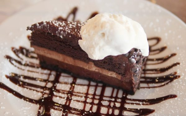 Ultimate Chocolate Cake at Hudson Grille Raw Grille & Bar - Theresa's Reviews