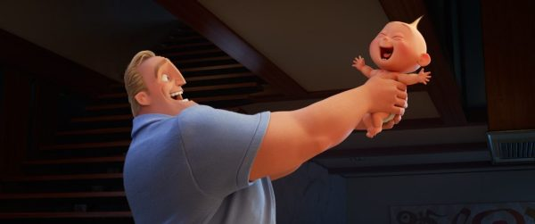 "Incredibles 2 (Pictured) - RISING SON – In Disney•Pixar's ""Incredibles 2,"" Bob (voice of Craig T. Nelson) is left to navigate the day-to-day heroics of ""normal"" life, giving him an opportunity to bond with his younger son, Jack-Jack, whose superpowers are emerging—much to Dad's surprise. Directed by Brad Bird and produced by John Walker and Nicole Grindle, ""Incredibles 2"" busts into theaters on June 15, 2018. ©2018 Disney•Pixar. All Rights Reserved."