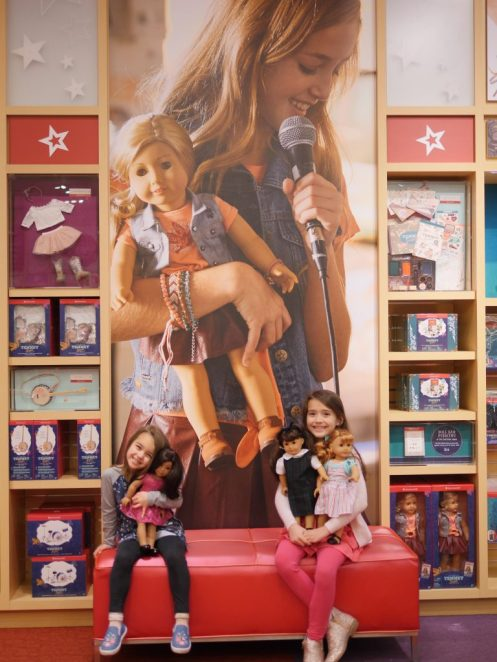 American Girl Cafe & Hair Salon Experience - American Girl Tenney Display - Theresa's Reviews